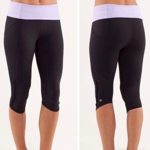 Lululemon Nothing to hide crop capri leggings sz 8
